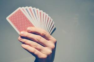 Hand and cards